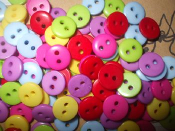 9mm Acrylic Assorted Buttons x 120